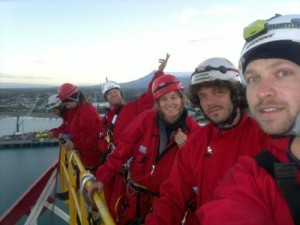 Greenpeace New Zealand protestors on the Noble Discovery drilling ship